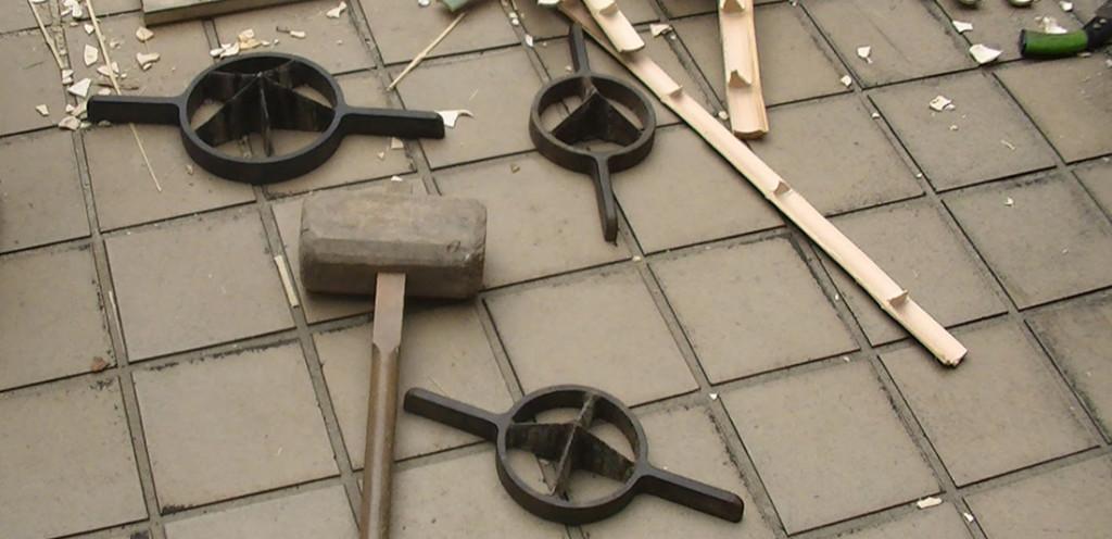 Multifacas ferramenta para construir com bambu