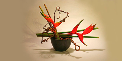 Flores vivas do Ikebana