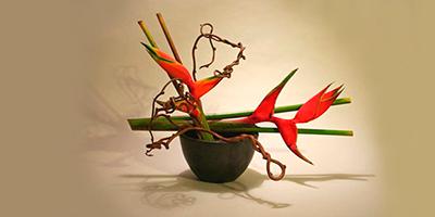 Flores vivas do Ikebana